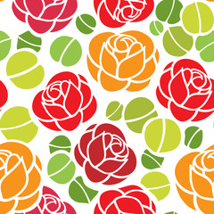 Roses seamless ornament