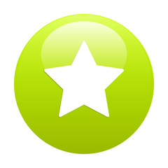 Bouton Web Favori star icon green
