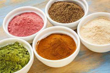 fruit and leaf powders