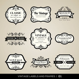 Vintage labels and frames - 55103459