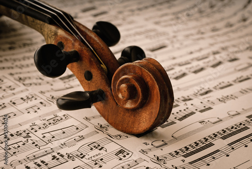 canvas print picture Detail einer alten Geige