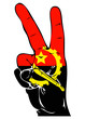 Peace Sign of the Angola flag