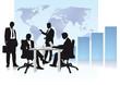 Geschäftsleute und Welthandel