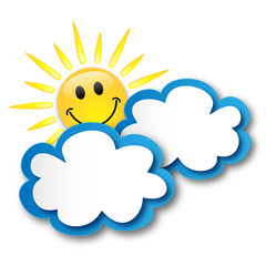 Sunny Spell (sun clouds weather forecast buttons symbols icons)