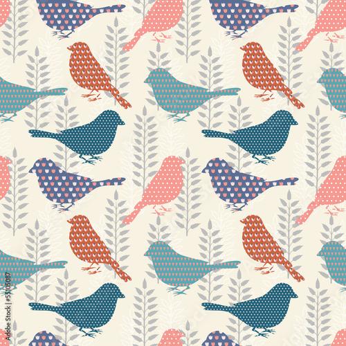 mata magnetyczna Birds seamless pattern
