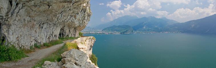 Ponalestraße, Riva del Garda, Gardasee, Italien