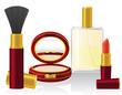 set cosmetics vector illustration
