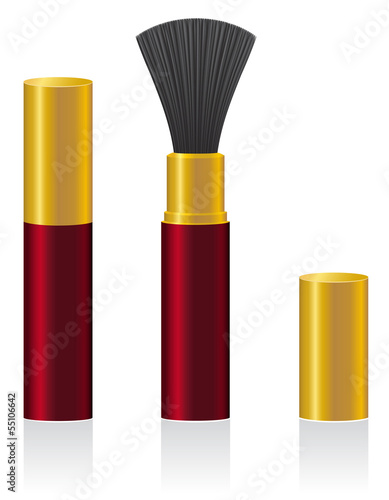 powder brush vector illustration