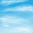 Постер, плакат: перистые облака в синем небе