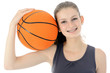 Teenager mit Basketball