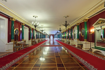Malachite foyer, Grand Kremlin Palace interior