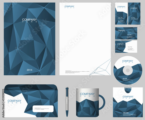 Corporate IDENTITY design template. Just put your logo.