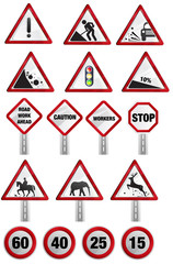 Caution - Road signs
