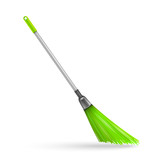 Plastic garden broom.