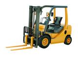Fototapety Forklift truck isolated