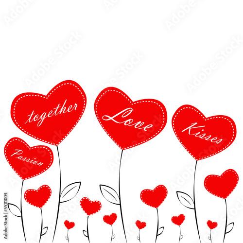 Herz Blume Liebe Romantik