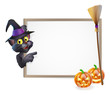 Halloween Black Cat Sign