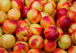 ripe peaches for sale at vegetable market