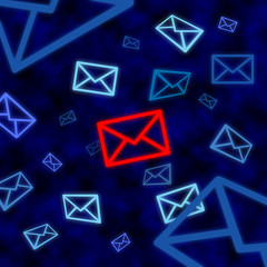 Email icon targeted by electronic surveillance in cyberspace