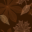 autumn leaves pattern dark 2