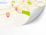 Fototapety Navigation map