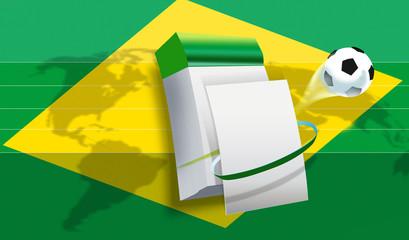 wm soccer 2014 Brazil world soccer championship flag worldbrazil
