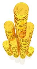 Geldtürmchen - Münzenstapel