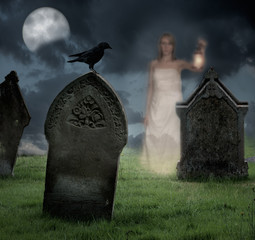 Woman Haunting Cemetery