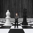 businessman on chessboard