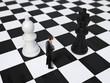 man on chessboard