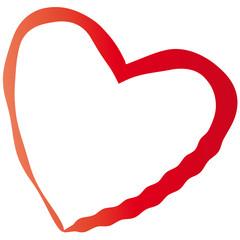 Herz mit welliger Linie