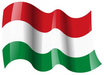 ungarn fahne wehend hungary flag waving