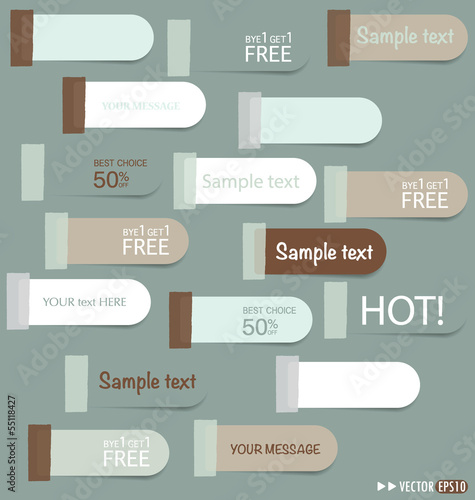 Set of sticker price tag, discount tags for price list. Vector i