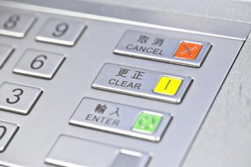 ATM pin code