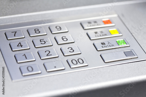Pin code of ATM machine