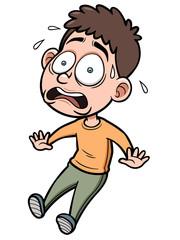 Vector illustration of Cartoon Man scared