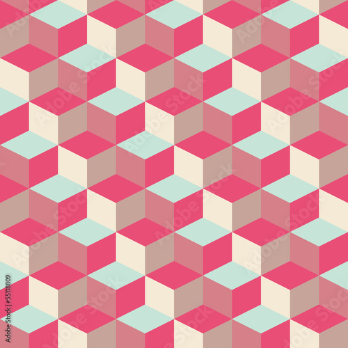 abstract cubic geometric pattern background