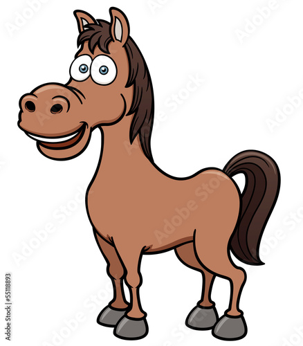 Vector illustration of a horse