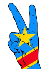 Peace Sign of the Congo flag