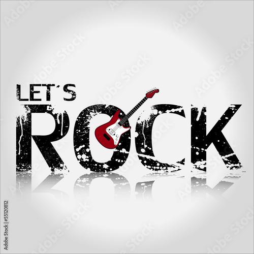 Let´s Rock Gitarre Hintergrund Vektor