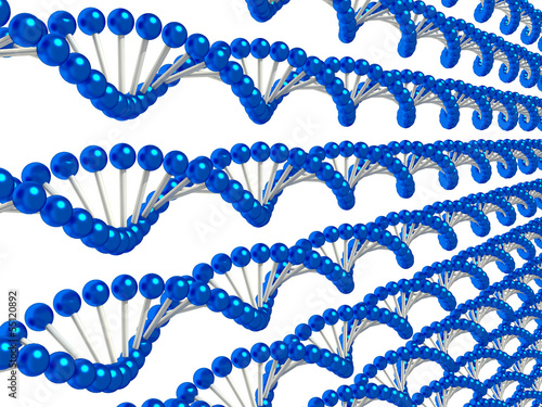 blue strings of genetic code background
