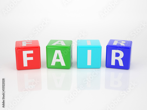 Fair out of multicolored Letter Dices