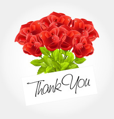 thank you - Bouquet of roses
