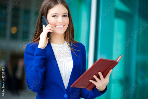 Businesswoman talking at the phone