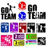 Cheerleader Go Team Designs