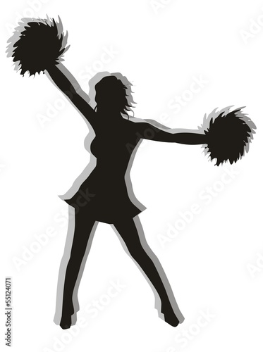 Cheerleader Silhouette