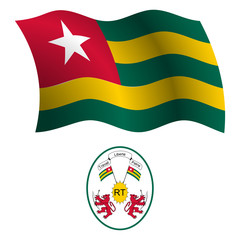 togo wavy flag and coat