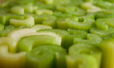 Chopped celery pieces