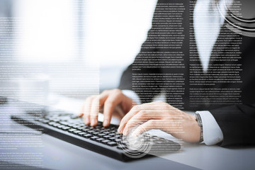 man hands typing on keyboard