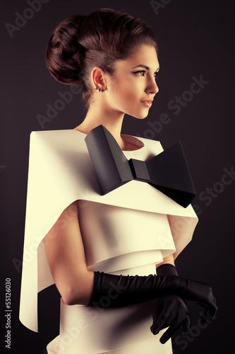 Fototapeten,eleganze,kleegras,mädchen,haute couture